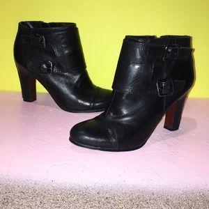 Sam Edleman Black Leather Booties